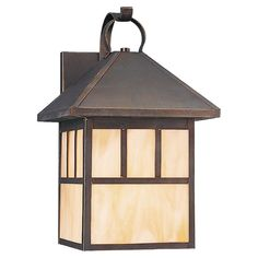 Indoor/Outdoor wall lantern. Great for getting that martial arts dojo feel in your backyard.