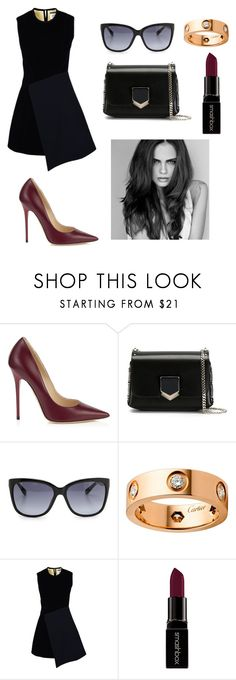 """Xenia Deli❣"" by angelinavoron23 ❤ liked on Polyvore featuring beauty, Jimmy Choo, Cartier, FAUSTO PUGLISI and Smashbox"