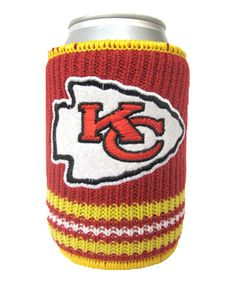 Take a look at this Kansas City Chiefs Knitted Can Koozie on zulily today!