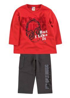 Novidades para os meninos!! Conjunto de moletom quentinho nos tamanhos 1,2 e 3 anos - R$ 49,90 Link na loja http://purezababy.com.br/roupas-meninos/conjuntos-meninos.html