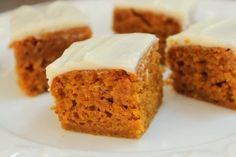 These Gluten-Free Pumpkin Squares (or bars, depending on how you cut them) are one of our all-time favorite fall recipes. Gluten Free Pumpkin Bars, Gluten Free Deserts, Gluten Free Sweets, Gluten Free Cakes, Foods With Gluten, Gluten Free Cooking, Pumpkin Recipes, Fall Recipes, Gluten Free Recipes