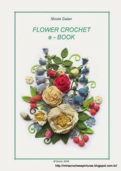 Crochet Flower Patterns Very beautiful crochet flowers More - Col Crochet, Freeform Crochet, Crochet Books, Crochet Art, Irish Crochet, Crochet Motif, Crochet Crafts, Crochet Projects, Vintage Crochet