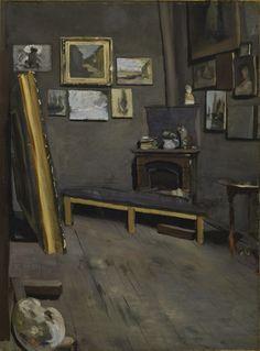 "Frédéric Bazille (1841-1870) - ""The Artist's Studio, Rue Visconti, Paris"" - Oil on canvas - http://vmfa.museum/collections/art/artists-studio-rue-visconti-paris/"