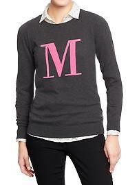 Women's Pop Color Crew-Neck Sweaters