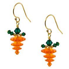 24 Carrot Gold Earrings