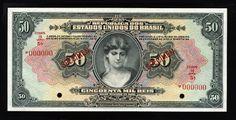 World Paper Money -Brazilian banknotes50 Mil Reis banknote of 1926, issued by the Caixa de Estabilização.