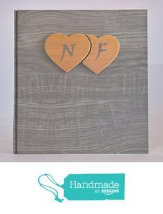 Album fotografico innamorati carta effetto legno grigio + cuori legno e iniziali personalizzabili WEDDING- SAN VALENTINO- ANNIVERSARIO da legnoegrafite https://www.amazon.it/dp/B07147VD2V/ref=hnd_sw_r_pi_dp_ydvkzb7WQFNX2 #handmadeatamazon