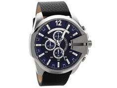 A vast selection of men's watches from F.Hinds - Bulova, Citizen, Casio, Seiko plus many more famous watch brands. Bulova, Seiko, Leather Men, Black Leather, Oversized Watches, Watch Brands, Casio, Chronograph, Diesel