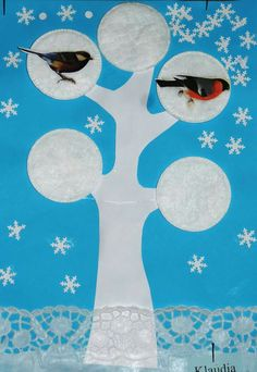 Diy And Crafts, Crafts For Kids, Kids Rugs, Birds, Winter, Flat, Winter Time, Crafting, Crafts For Children
