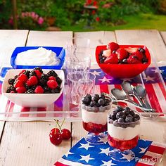 America loves individuality, so let everyone have it their way at a fruit-and-yogurt parfait station.