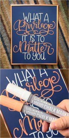 Create a beautiful chalkboard art design with Kassa Chalk Markers!