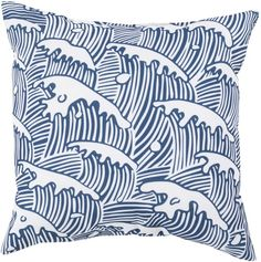 Ocean Waves Pillow - Cobalt Blue As seen in HGTV Magazine!  So excited to have a tiny featured pillow!