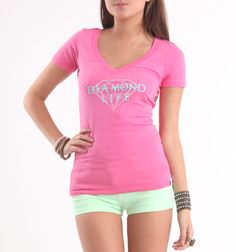 (Limited Supply) Click Image Above: Womens Diamond Supply Co Tee - Diamond Supply Co Diamond Pink T-shirt