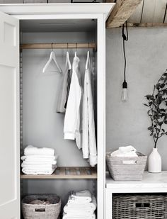 51 ideas airing cupboard storage ideas under stairs Chichester, Drying Cupboard, Cupboard Storage, Cupboard Ideas, Larder Cupboard, Kitchen Storage, Armoire, Slatted Shelves, Laundry Cabinets