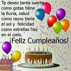 Trendy Happy Birthday Messages In Spanish Ideas Spanish Birthday Wishes, Happy Birthday Wishes Quotes, Birthday Blessings, Happy Birthday Pictures, Happy Wishes, Happy Birthday Cards, Birthday Greetings, Birthday Poems, Birthday Signs