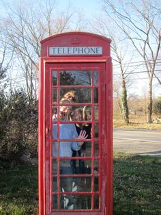 Phone booth outside the British Pantry off route 50 west Aldie VA