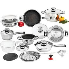 BNFUSA KTNS26 12-Element, Heavy-Gauge Non-Stick Stainless Steel Cookware >>> New and awesome product awaits you, Read it now  : Cookware Sets