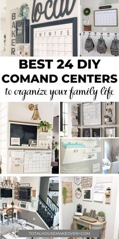 Every Command Center is not created equal. These are the best command center ideas that is functional and cute. There is nothing like organization in style. Click through for the clever family command centers. Command Center Kitchen, Family Command Center, Office Organization At Work, Wall Organization, Organizing Ideas, Comand Center, Wall File Holder, Simple Closet, Family Organizer