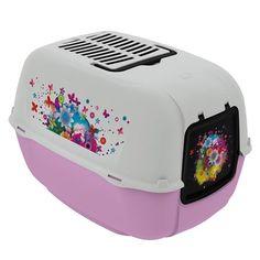 Toilet Home Prima Decor Rosa Ferplast - Meuamigopet.com.br #cat #cats #gato #gatinho #bigode #muamigopet