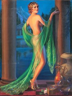 Vintage Original Large Art Deco Pin-Up Girl Print Lithograph Gene Pressler Unimagined Beauty Exotic Grecian Fantasy Jazz Age Flapper Pinup Art, Moda Art Deco, Harem Girl, Rolf Armstrong, Maxfield Parrish, Art Prints For Sale, Pin Up Girls, Art Deco Fashion, 1930s