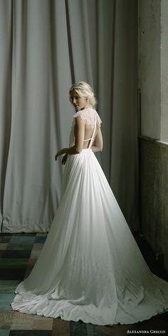 alexandra grecco fall 2017 bridal illusion cap sleeves jewel neck keyhole a line wedding dress (paloma) bv -- Alexandra Grecco Fall 2017 Wedding Dresses #wedding #bridal #weddingdress