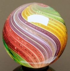 """Wald Glass aventurine / Lutz .93"""" marble ARTIST DIRECT  <3<3<3AWESOME<3WOW<3FAB!<3 @"""