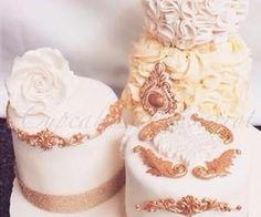 #chic #weddingcakes #white #gold