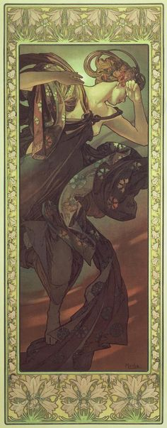 The Moon and the Stars: Evening Star (1902)  Alphonse Mucha