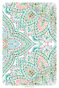 Watercolor Mandala, Watercolor Artwork, Floral Watercolor, Mandala Pattern, Various Artists, Beautiful Patterns, Home Textile, Watercolors, Print Patterns