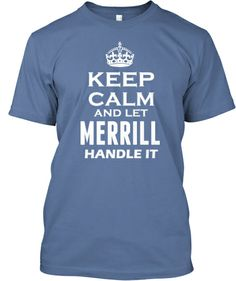 Are you a Merrill, then the shirt is for you :-)