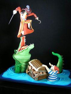 #Captain Hook of Peter Pan #Birthday #Cake