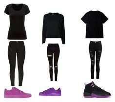 """Im in love with purple!!!!"" by queenb-676 ❤ liked on Polyvore featuring NIKE, adidas Originals, Fendi, Topshop and Vans"