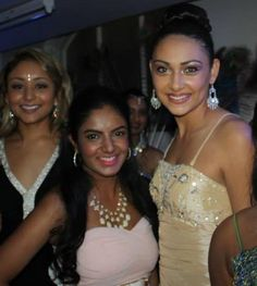 Miss India NZ 2013 1st runner up With Raiya Courtier-Sadhu. Dressed in a gorgeous gold gown from Bridal and Ball NZ