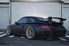 Matte Black 911 Porsche