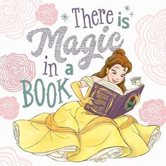 ☑️ Disney Story ☑️ Reading Nook ☑️ Comfy Ball Gown What's your favorite Disney story to read? Disney Movie Club, Film Disney, Disney Fan Art, Disney Love, Bella Disney, Disney Belle, Disney Rapunzel, Disney Princesses, Disney Drawings