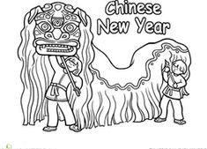 Chinese New Year Second Grade Holiday Worksheets: Chinese New Year Dragon Coloring Page Chinese New Year Crafts For Kids, Chinese New Year Dragon, Chinese New Year Activities, Chinese Crafts, Chinese Art, Dance Coloring Pages, New Year Coloring Pages, Dragon Coloring Page, Colouring Pages