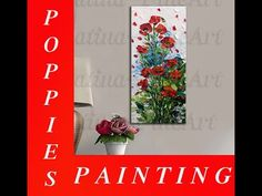 How to paint Red Poppies Impasto Oil Painting with a Palette Knife! - YouTube