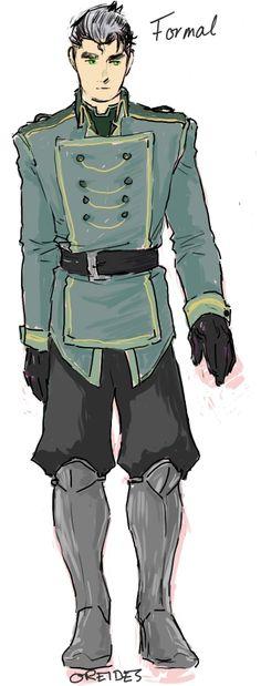 -The colored formal metalbender cadet uniform. by http://oreides.tumblr.com/