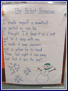 Snowflake Symmetry in Kindergarten + Anchor Charts