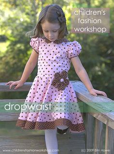 I love the concept of this site - start with basics - learn details - mix and match - draft! (the dress in the pin is a project you can do after taking/learning the previous lessons - which are not free but do appear to be a GREAT value! Sewing Kids Clothes, Sewing For Kids, Baby Sewing, Diy Clothes, Sewing Patterns Girls, Clothing Patterns, Toddler Dress, Baby Dress, Little Girl Fashion