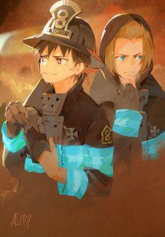 Manga Anime, Anime Art, Manga Art, Me Me Me Anime, Anime Guys, Shinra Kusakabe, Anime Friendship, Anime Angel, Awesome Anime