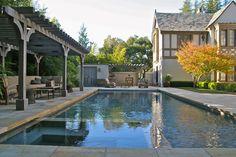 pool ideas- pergola along the long side