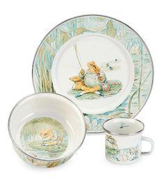 3-Piece Beatrix Potter Enamelware Dish Set, in Jeremy Fisher Magic Cabin® http://www.amazon.com/dp/B007HOWPB4/ref=cm_sw_r_pi_dp_zwrRwb1903VNK
