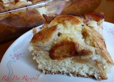 Apple-cinnamon coffee cake is a great way to kick off fall baking. #baking #apples #coffeecake