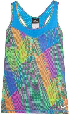 Pin for Later: Beachy Hues and Ocean Blues: Vacation-Inspired Activewear Nike Pro Hypercool Frequency Dri-FIT Stretch-Jersey Tank Nike Pro Hypercool Frequency Dri-FIT Stretch-Jersey Tank ($45)