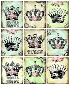 Crowns | Only pinning this to my tattoo board cause I want a crown tattoo. :)