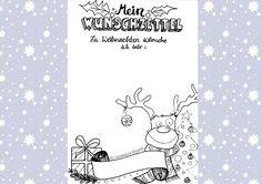Miriam Nowak : *Freebie* Weihnachts-Wunschzettel