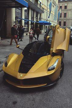 "classyhustler: "" La Ferrari black & gold   photographer """
