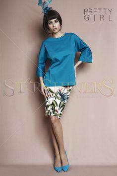 PrettyGirl Stillness Turquoise Blouse