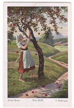 Mother Hulda Frau Bolle Brothers Grimm Fairy Tale Artist Signed Kubel Postcard | eBay